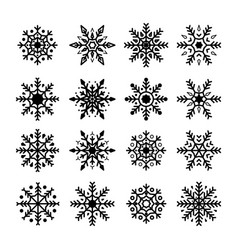 snowflakes set collection of snowflakes vector image