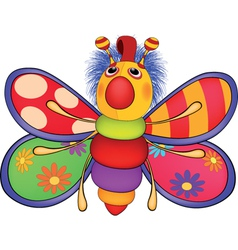 Soft toy the toy butterfly Cartoon vector image