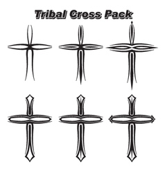 Tribal Crosses vector