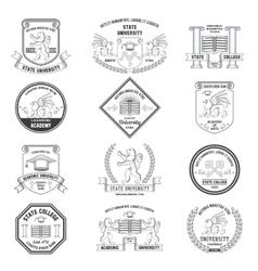 University Labels Set vector image