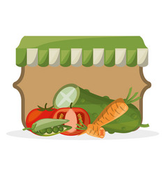 Vegetables farming fresh organic image vector