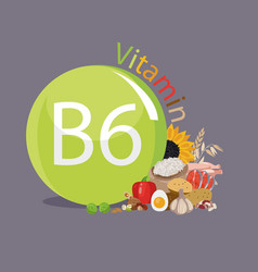 vitamin b6 vector image