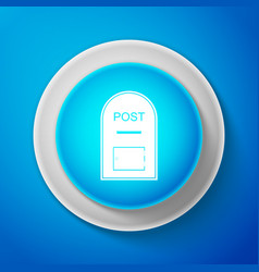 White mail box icon post box icon isolated vector