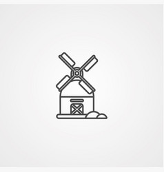 windmill icon sign symbol vector image