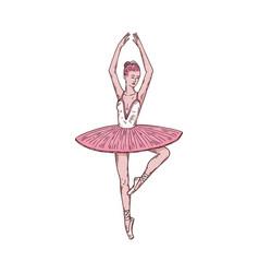 Woman ballerina dancer ballet dancing vector