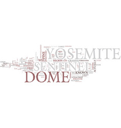 Yosemite sentinel text background word cloud vector