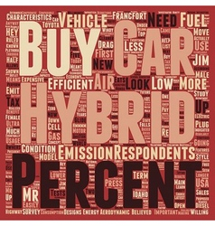 Buy hybrid cars text background wordcloud concept vector