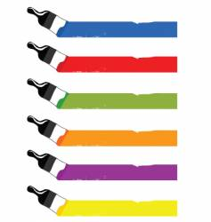 colorful brushes vector image vector image