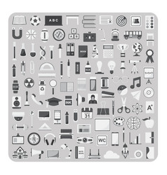 flat icons education and back to school set vector image vector image