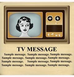 Retro TV Message vector image vector image