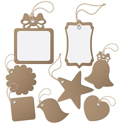 Set ot label tag isolated on white vector image vector image