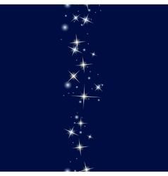 Starry line on dark blue background vector image