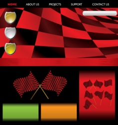 formula racing red web vector image