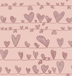 Hearts On Stripe vector image