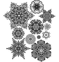 Lacy arabesque designs vector image