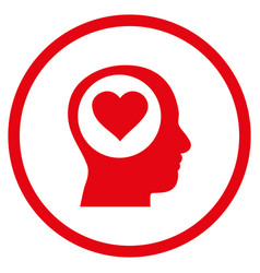 love thinking head rounded icon vector image