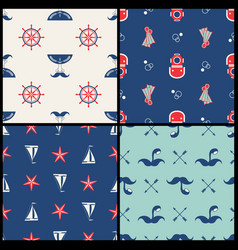 marinel seamless pattern vector image vector image