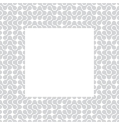 Template frame with pattern background vector image vector image