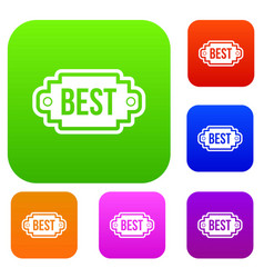 best label set collection vector image vector image
