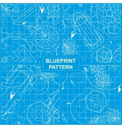 Blueprint Pattern vector image