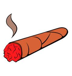 cigar icon cartoon vector image vector image