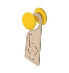 Door hanger sign cartoon icon vector image