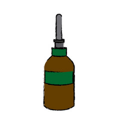 dropper bottle medical health care vector image