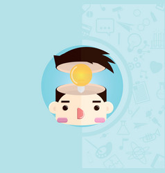 head with bulb vector image vector image