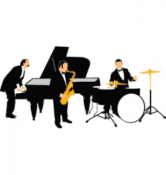 jazz orchestra vector image
