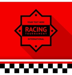 Racing stamp-04 vector image vector image