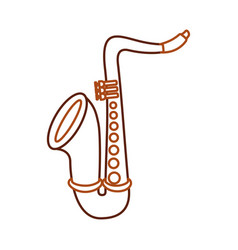 saxophone jazz instrument musical festival vector image vector image