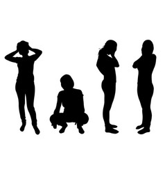 silhouettes of women in despair vector image