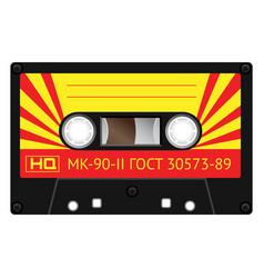 vintage technology audio cassette vector image