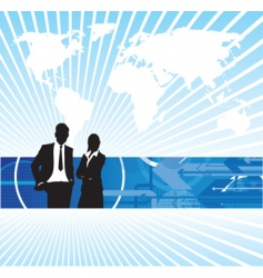 business people world background vector image