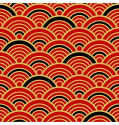 Red Gold Black Traditional Wave Japanese vector image