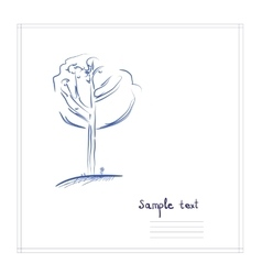 Sketch tree for cards vector image vector image