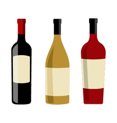 Wine bottles and labels design elements template vector image vector image