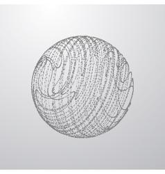 3d sphere particles vector