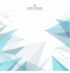 abstract futuristic blue triangles future vector image