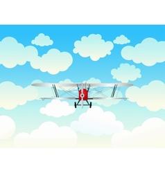Aeroplane in blue sky vector
