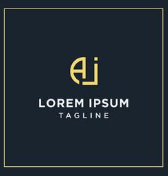 Aj or ai monogram logo vector