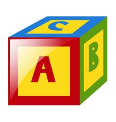 Alphabet block for kid vector