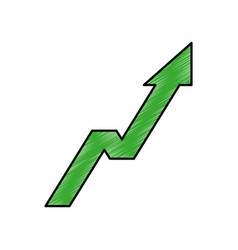 arrow up increase icon vector image