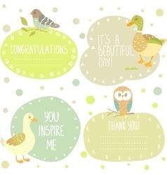 birds stickers vector image