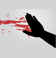 blood art hand vector image