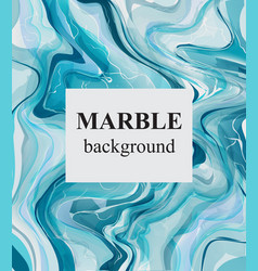 blue turquoise marble background luxury stone vector image