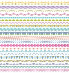 Border patterns vector
