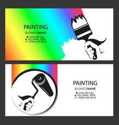business card concept for painter vector image