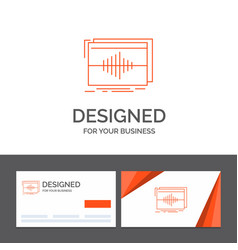 Business logo template for audio frequency hertz vector
