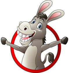 Cartoon funny donkey vector